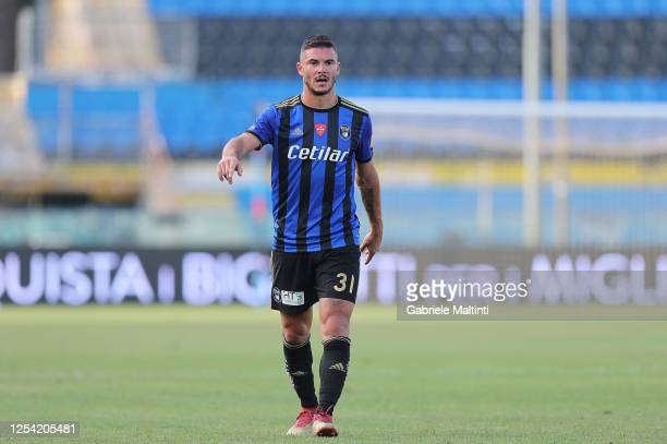 Michele Marconi of SC Pisa in action during the serie B match between SC Pisa and AS Cittadella at Arena Garibaldi on July 3, 2020 in Pisa, Italy.