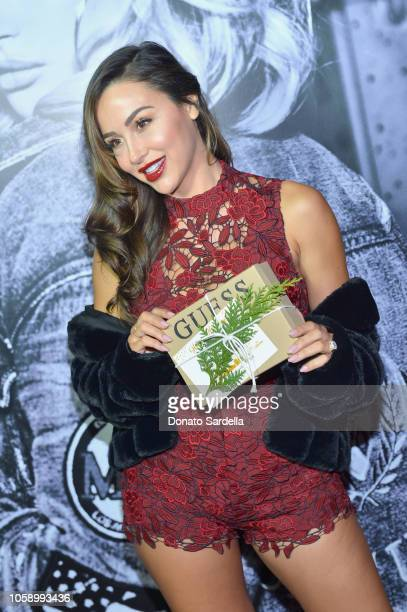Michele Maturo wearing GUESS attends the GUESS Holiday 2018 Event on November 7 2018 in West Hollywood California