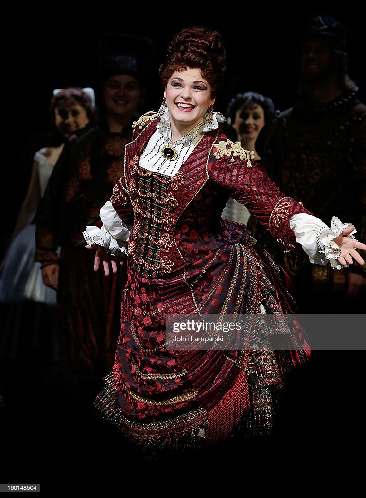Michele Mc Connell performs at 'The Phantom Of The Opera' Broadway 25th Anniversary at Majestic Theatre on January 26, 2013 in New York City.
