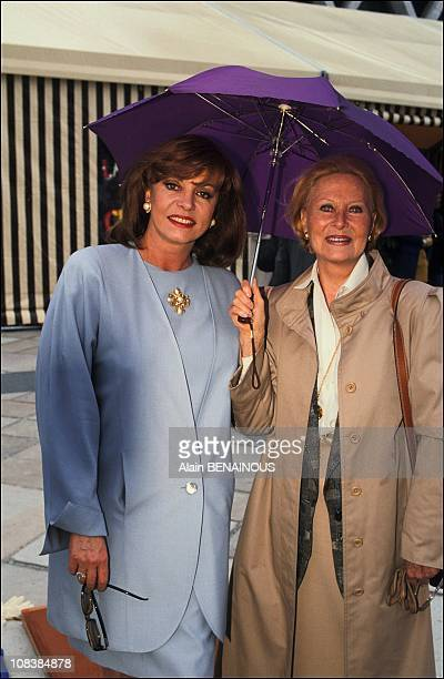 Michele Mercier and Michele Morgan in Paris France on June 24 1991