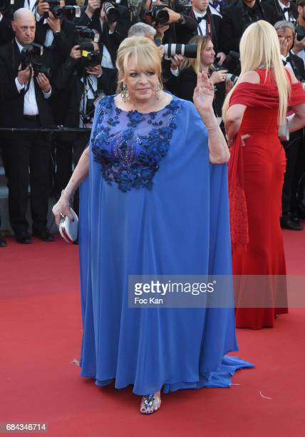 Michele Mercier attends the 'Ismael's Ghosts ' screening and Opening Gala during the 70th annual Cannes Film Festival at Palais des Festivals on May...