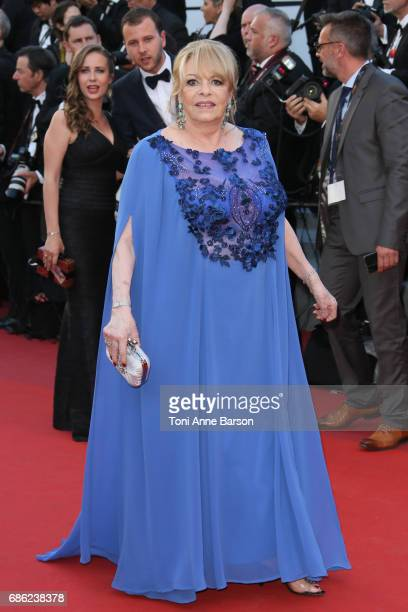 Michele Mercier attends the Ismael's Ghosts screening and Opening Gala during the 70th annual Cannes Film Festival at Palais des Festivals on May 17...