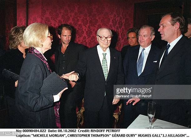 Michele Morgan Christopher Thompson' Gerard Oury' Hughes Gall'JJ Aillagon''Gerard Oury' film screening of 'La Grande Vadrouille' at the Garnier opera