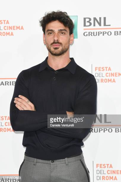 Michele Morrone attends the photocall of the movie Bar Giuseppe during the 14th Rome Film Festival on October 18 2019 in Rome Italy