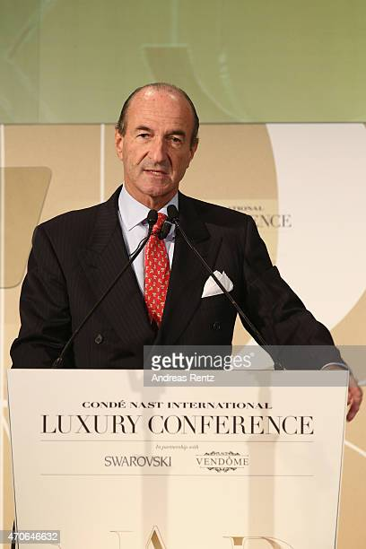 Michele Norsa CEO and Group Managing Director of Salvatore Ferragamo attends the Conde' Nast International Luxury Conference at Palazzo Vecchio on...