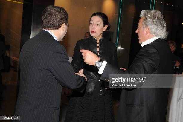 Michele Oka Doner and Aby Rosen attend A CELEBRATION OF 350 W BROADWAY AND INTRODUCTION OF THE PENTHOUSE at Lever House on March 11 2009 in New York...