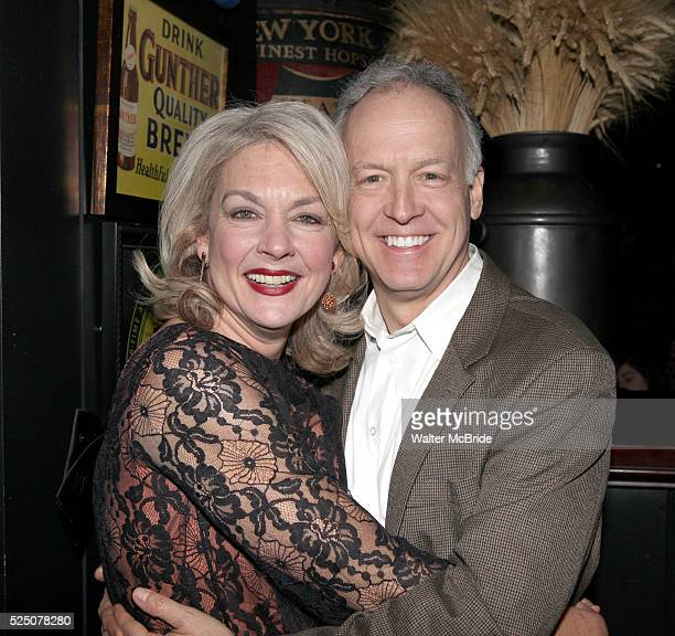 Michele Pawk Reed Birney attending the opening Night Party for Playwrights Horizons' World Premiere Production of A Small Fire at Heartland Brewery...