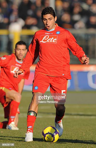Michele Pazienza of SSC Napoli in action during the Serie A match between Atalanta BC and SSC Napoli at Stadio Atleti Azzurri d'Italia on January 6...