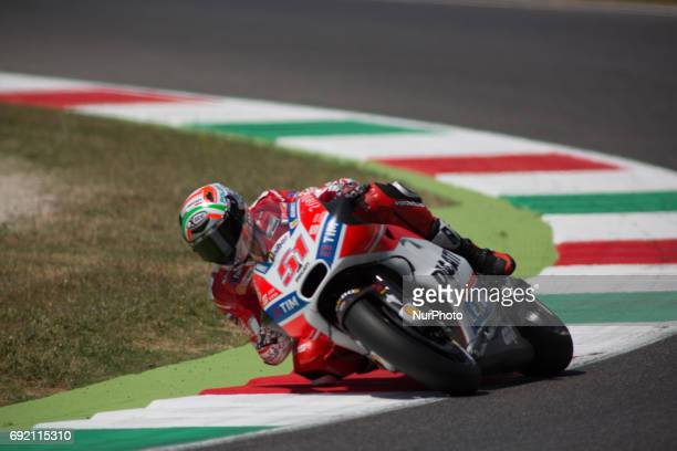 Michele PIRRO ITA Ducati Team during the Day2 qualifications at the Mugello International Cuircuit for the sixth round of MotoGP World Championship...