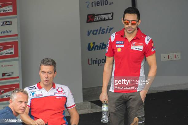 Michele Pirro of Italy and Ducati Team looks on in paddock during the MotoGP Of Malaysia Previews at Sepang Circuit on November 1 2018 in Kuala...