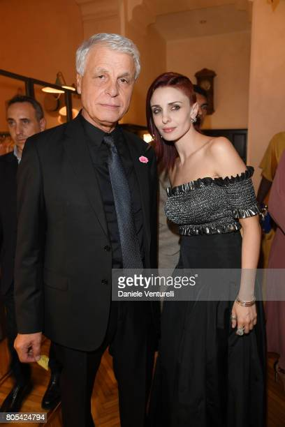 Michele Placido and Federica Vincenti attend Nastri D'Argento 2017 Awards Ceremony on July 1, 2017 in Taormina, Italy.