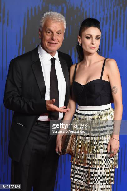 Michele Placido and Federica Vincenti attend the 'Suburra The Series' premiere during the 74th Venice Film Festival on September 2 2017 in Venice...