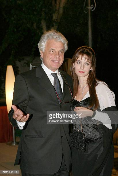 Michele Placido and Guest Federica Vincenti during The 63rd International Venice Film Festival Dinner Gala Inside and Arrivals at Hotel Excelsior in...