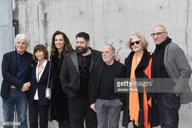 Michele Placido and guests arrive at the Giorgio Armani show during Milan Fashion Week Fall/Winter 2018/19 on February 24 2018 in Milan Italy