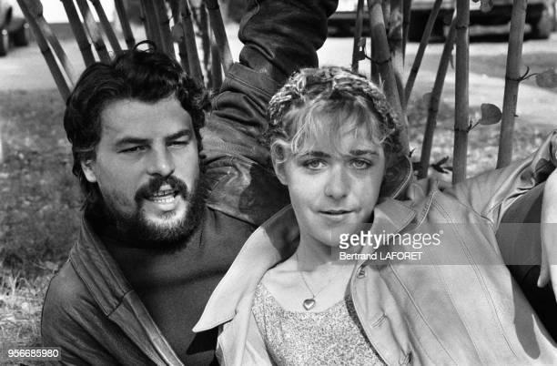 Michele Placido et Anne Bennent lors du tournage du film 'Lulu' le 1er octobre 1979 à Berlin Allemagne