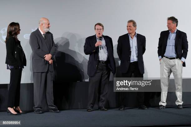 Michele Reiner Rob Reiner and the journalists Warren Strobel John Walcott and Jonathan Landay attend a QA after the 'Shock and Awe' premiere at the...