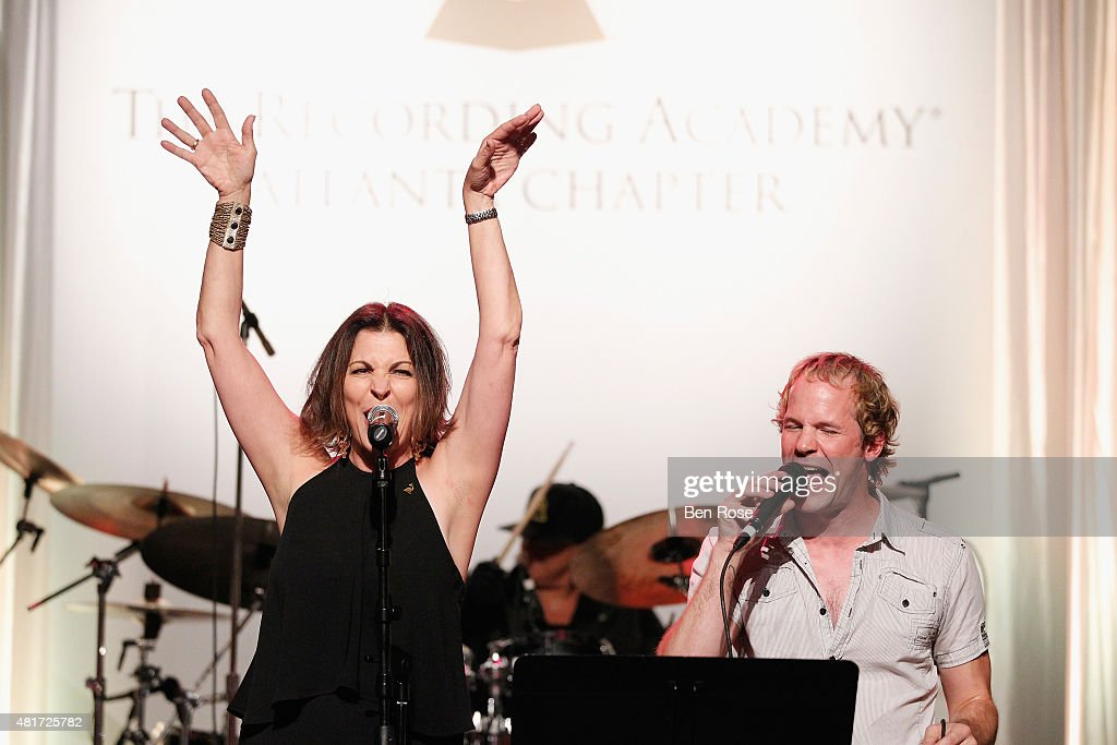 Michele Rhea Caplinger and Kevin Spencer perform during the GRAMMY Atlanta Chapter Member Party at The Buckhead Theater on July 23, 2015 in Atlanta, Georgia.
