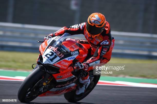 Michele Rinaldi ITA Ducati Panigale R during qualifying of WSBK Riviera di Rimini Round