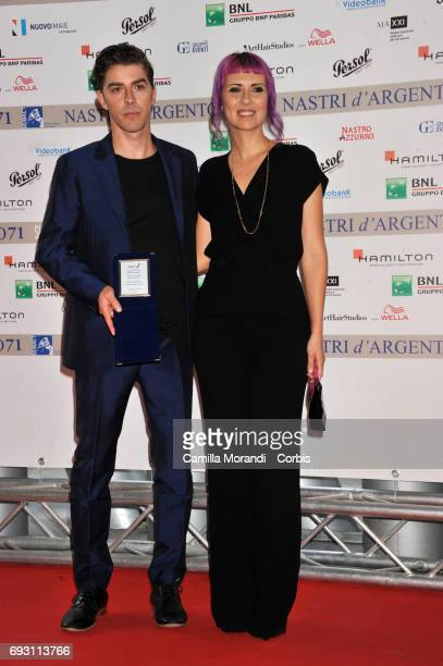 Michele Riondino and Eva Nestori attend the nominees presentation of Nastri D'Argento at Maxxi Museum on June 6, 2017 in Rome, Italy.