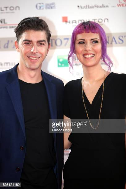 Michele Riondino and Eva Nestori attend the nominees presentation of Nastri D'Argento at Maxxi Museum on June 6 2017 in Rome Italy