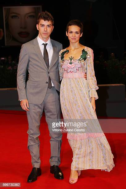 Michele Riondino and Sara Serraiocco attend the premiere of 'Tommaso' during the 73rd Venice Film Festival at Sala Grande on September 6 2016 in...