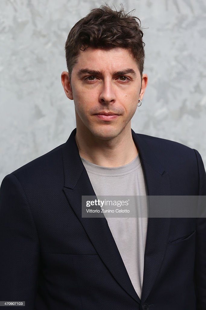 Michele Riondino attends the Emporio Armani show as part of Milan Fashion Week Womenswear Autumn/Winter 2014 on February 21, 2014 in Milan, Italy.