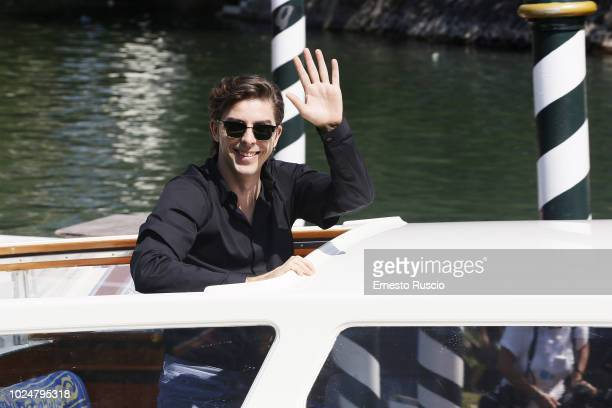 Michele Riondino is seen arriving at the 75th Venice Film Festival at Darsena Excelsior on August 28 2018 in Venice Italy