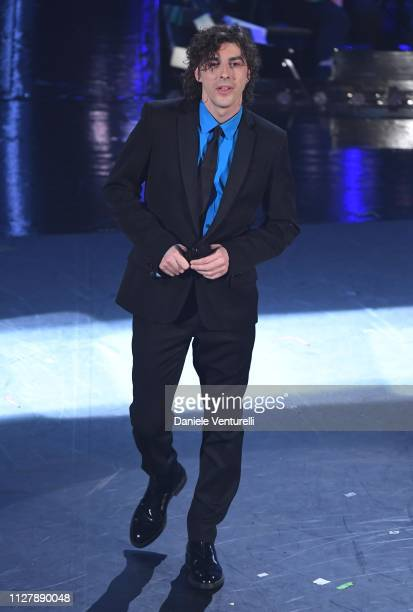 Michele Riondino on stage during the second night of the 69th Sanremo Music Festival at Teatro Ariston on February 06 2019 in Sanremo Italy