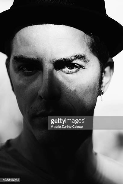 Michele Riondino poses on October 19 2015 in Rome Italy