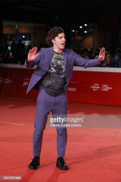 Michele Riondino walks the red carpet ahead of the Notti Magiche screening during the 13th Rome Film Fest at Auditorium Parco Della Musica on October...