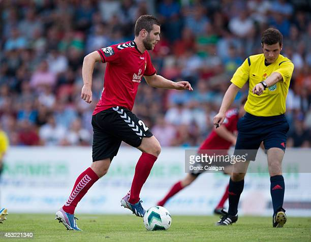 Michele Rizzi of Grossaspach in action during the third league match between SG Sonnenhof Grossaspach and Stuttgarter Kickers at mechatronik Arena on...