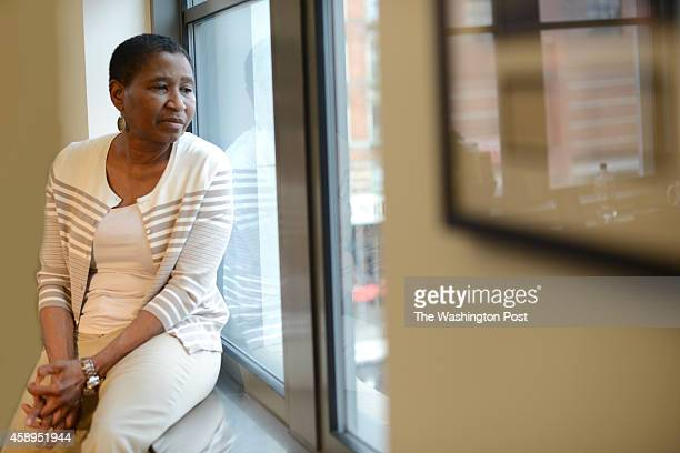 Michele Roberts the Executive Director of National Basketball Players Association is seen in offices in Harlem in Manhattan NY 11/7/2014