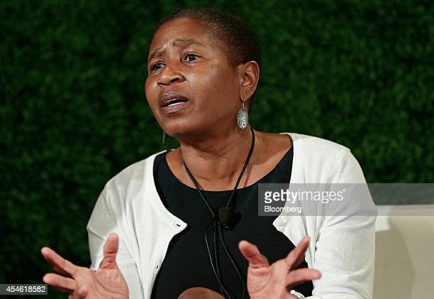 Michele Roberts, the incoming executive director National Basketball Players Association, speaks at the Bloomberg Sports Business Summit in New York,...