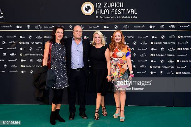 Michele Sauvin Filippo Leutenegger and guests attend the 'La La Land' Photocall during the 12th Zurich Film Festival on September 25 2016 in Zurich...