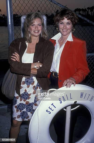 Michele Scarabelli and Terri Treas attend FOX TV Affiliates Party on July 11 1989 in Marina Del Rey California
