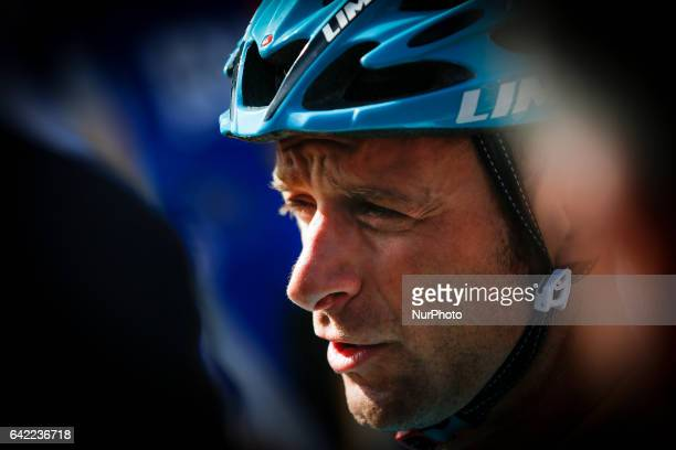 Michele Scarponi of Astana Pro Team before the 2nd stage of the cycling Tour of Algarve between Lagoa and Alto do Foia on February 15 2017...