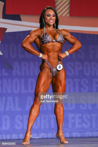Michele Silva competes in Figure International as part of the Arnold Sports Festival on March 2 at the Greater Columbus Convention Center in Columbus...