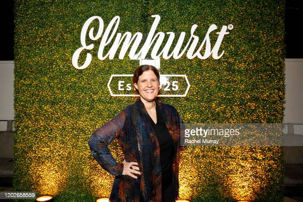 Michele Simon poses as Elmhurst 1925 celebrates PlantBased Movement with Plant the Revolution panel discussion at Gracias Madre on January 28 2020 in...