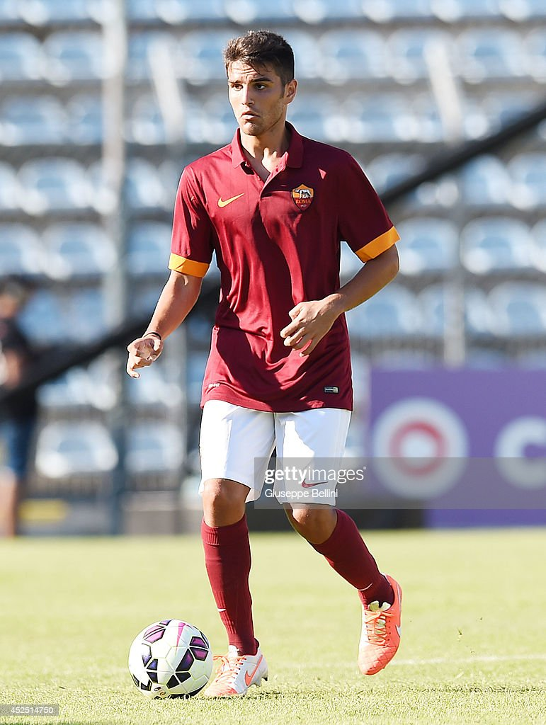 Michele Somma of Roma in action during the friendly match between AS Roma and Indonesia U23 at Stadio Centro d'Italia - Manlio Scopigno on July 18, 2014 in Rieti, Italy.