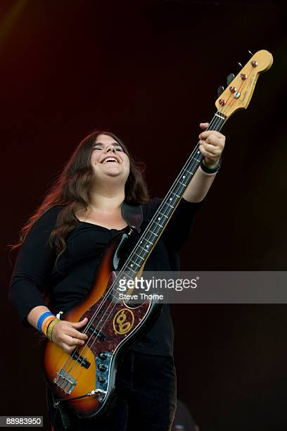 Michele Stodart of Magic Numbers performs on stage on the first day of Cornbury Festival on July 11 2009 near Charlbury United Kingdom