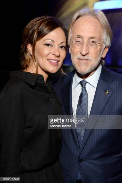 Michele Tebbe and The Recording Academy and GRAMMY Foundation President/CEO Neil Portnow attend 'Stayin' Alive A GRAMMY Salute To The Music Of The...