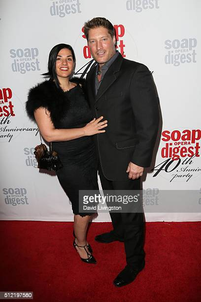 Michele Vega and Sean Kanan arrive at the 40th Anniversary of the Soap Opera Digest at The Argyle on February 24 2016 in Hollywood California