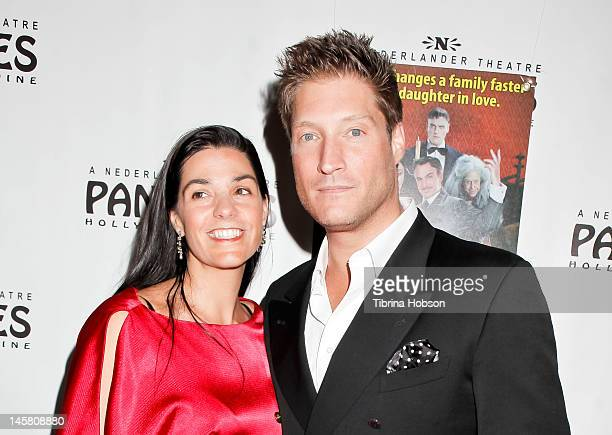 Michele Vega and Sean Kanan attend 'The Addams Family' opening night premiere at the Pantages Theatre on June 5 2012 in Hollywood California