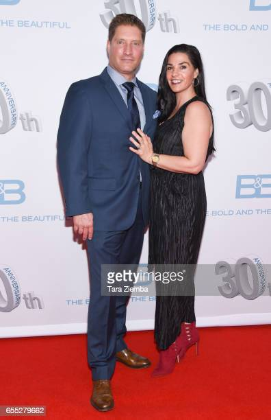 Michele Vega and Sean Kanan attend the CBS's 'The Bold And The Beautiful' 30th Anniversary Party at Clifton's Cafeteria on March 18 2017 in Los...