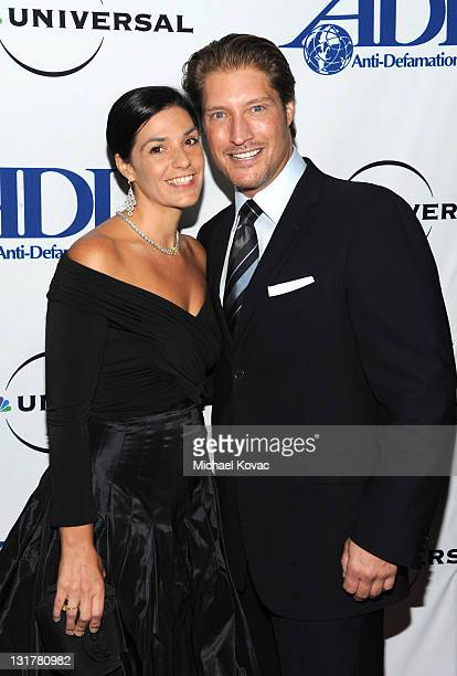 Michele Vega and Shaun Canan attend the AntiDefamation League Entertainment Industry Awards Dinner Arrivals on October 7 2010 in Beverly Hills...