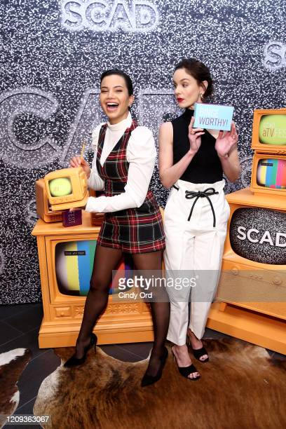 Michele Weaver and Sarah Wayne Callies attend SCAD aTVfest 2020 Council Of Dads on February 28 2020 in Atlanta Georgia
