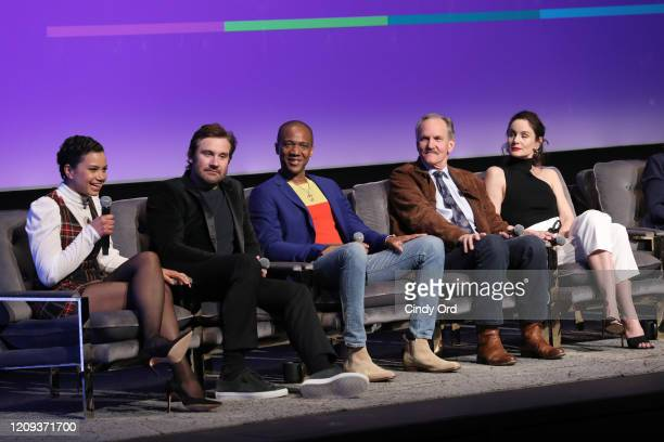 Michele Weaver Clive Standen J August Richards Michael O'Neill and Sarah Wayne Callies and attend SCAD aTVfest 2020 Council Of Dads on February 28...