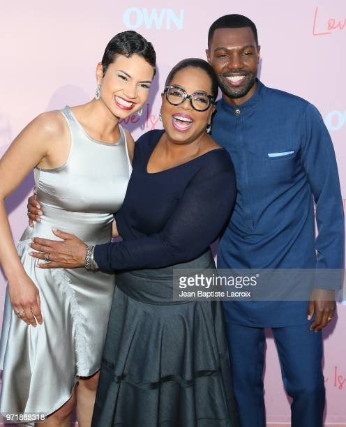 Michele Weaver William Catlett and Oprah Winfrey attend the Los Angeles premiere of OWN's 'Love Is_' held at NeueHouse Hollywood on June 11 2018 in...