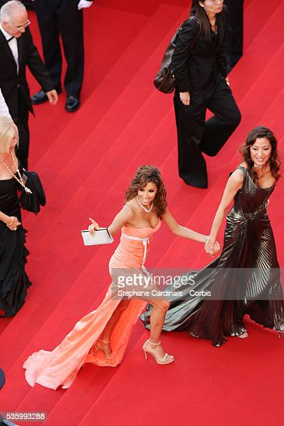 Michele Yeoh and Eva Longoria at the premiere of 'Transylvania' during the 59th Cannes Film Festival