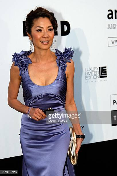 Michele Yeoh attends amfAR's Cinema Against AIDS 2009 benefit at the Hotel du Cap during the 62nd Annual Cannes Film Festival on May 21 2009 in...
